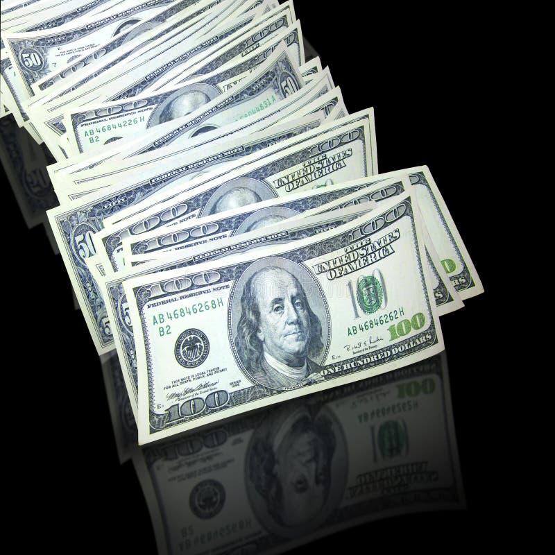 Stapel van contant geld royalty-vrije stock foto