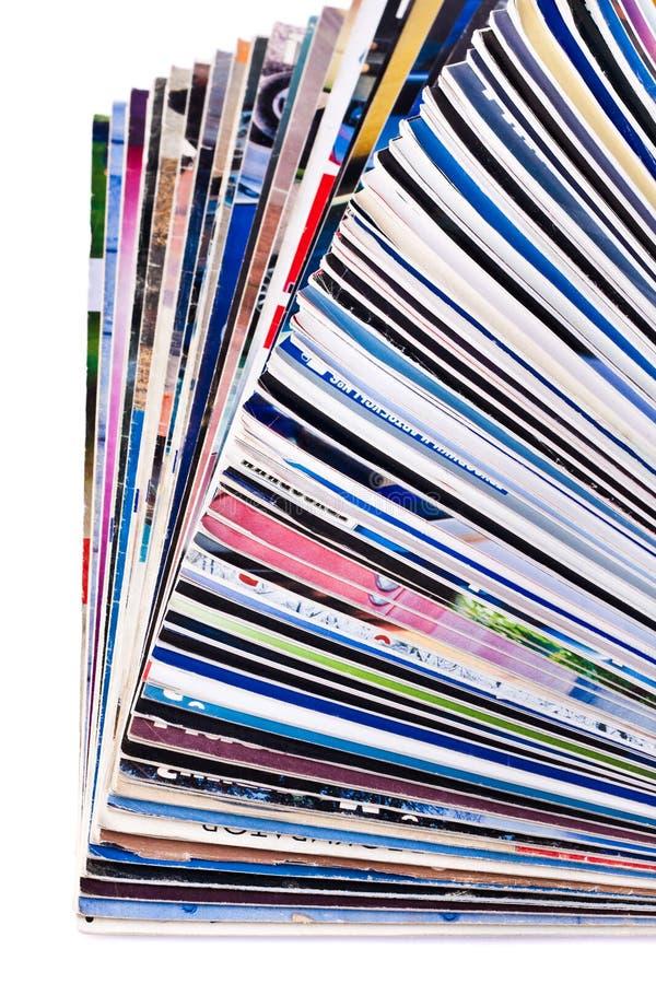 Stapel van dagboeken stock afbeeldingen