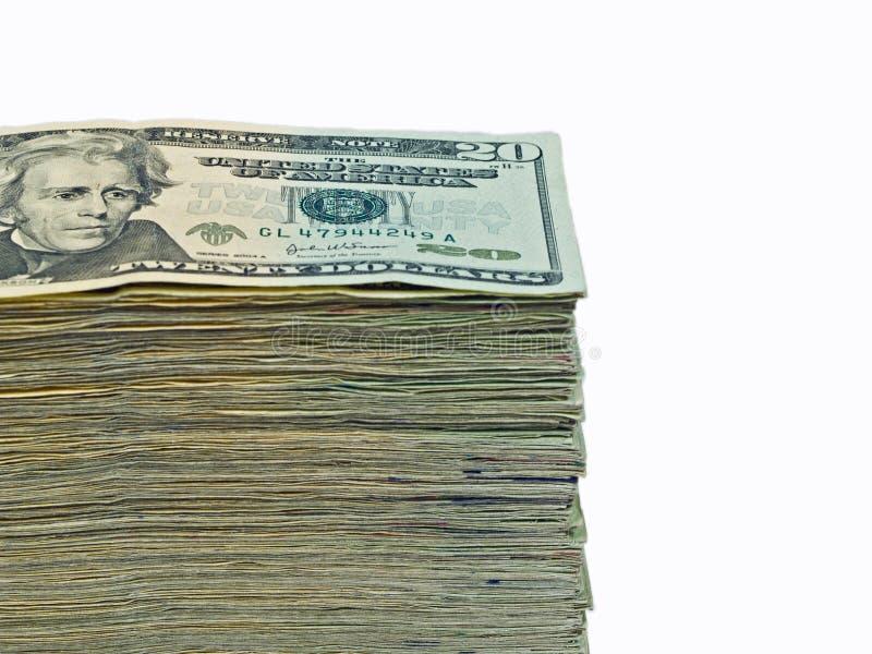 Stapel van de munt van Verenigde Staten royalty-vrije stock fotografie