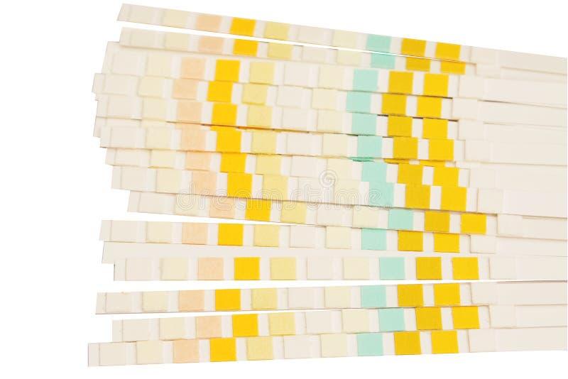 Stapel van de test van de urinestok stock foto's