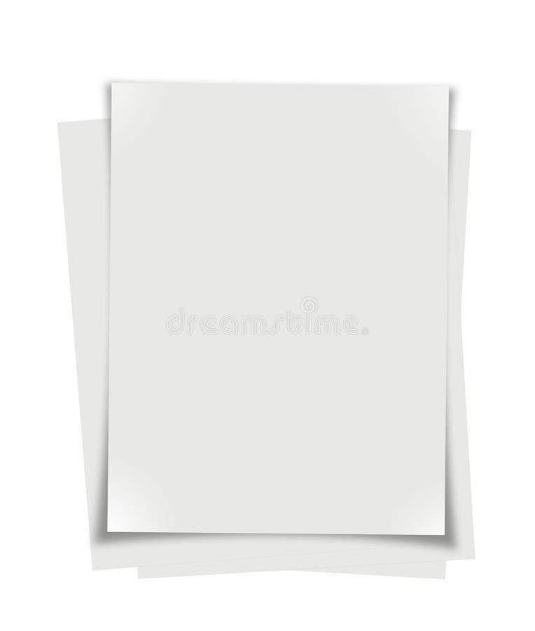 Stapel van document vector illustratie