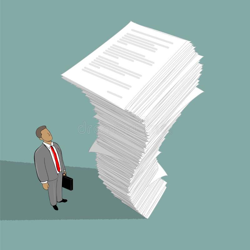 Stapel van document stock illustratie