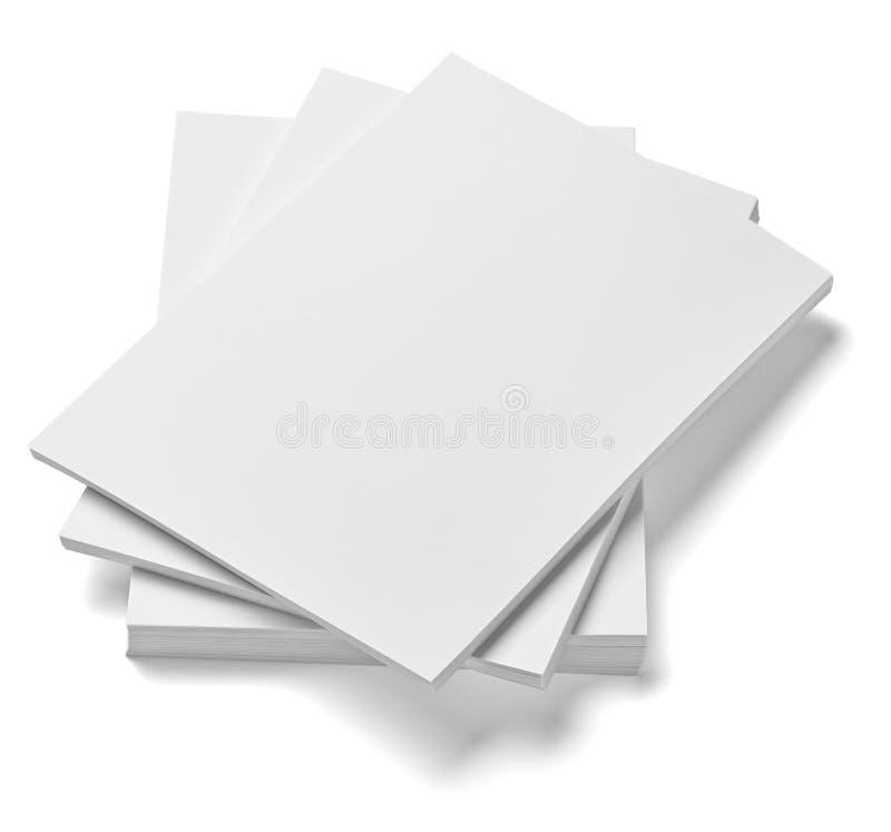 Stapel van documenten de zaken van het documentenbureau stock afbeelding