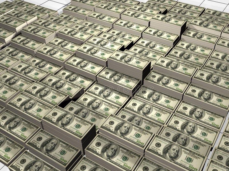Stapel van dollars royalty-vrije illustratie