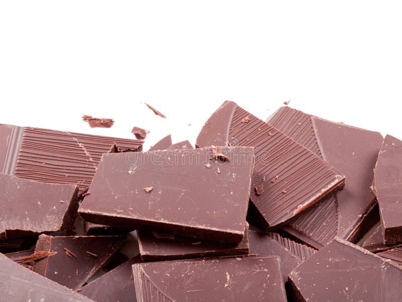 Stapel van donkere chocoladerepen stock afbeelding