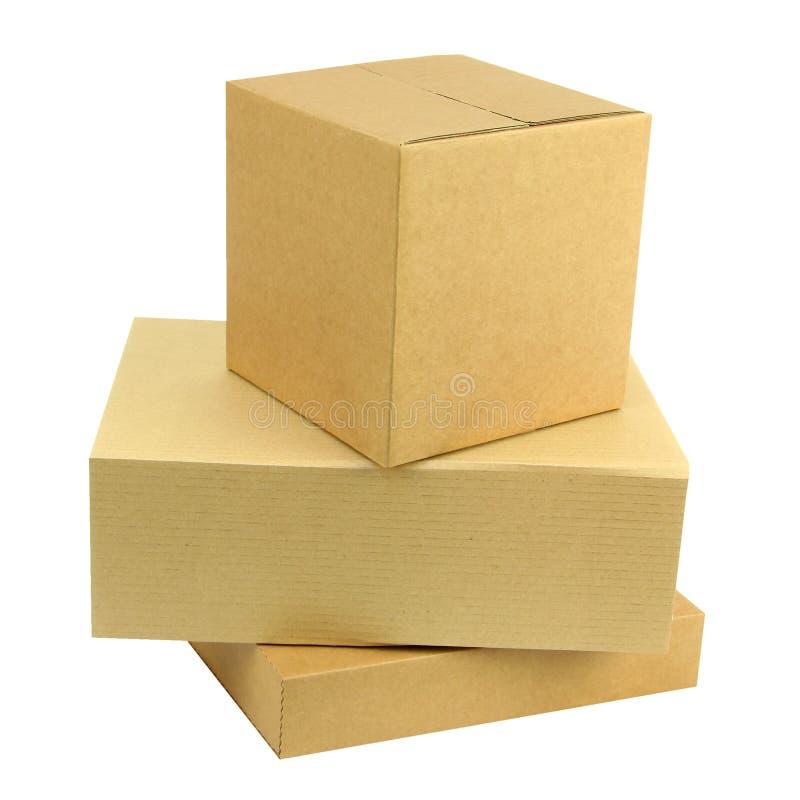 Stapel van drie dozen stock foto