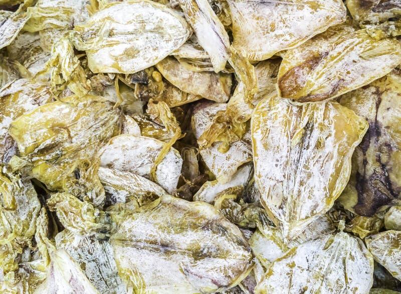Stapel van droge pijlinktvis stock fotografie