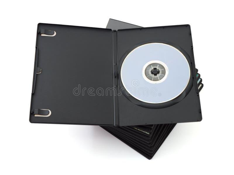 Stapel van dvd royalty-vrije stock foto