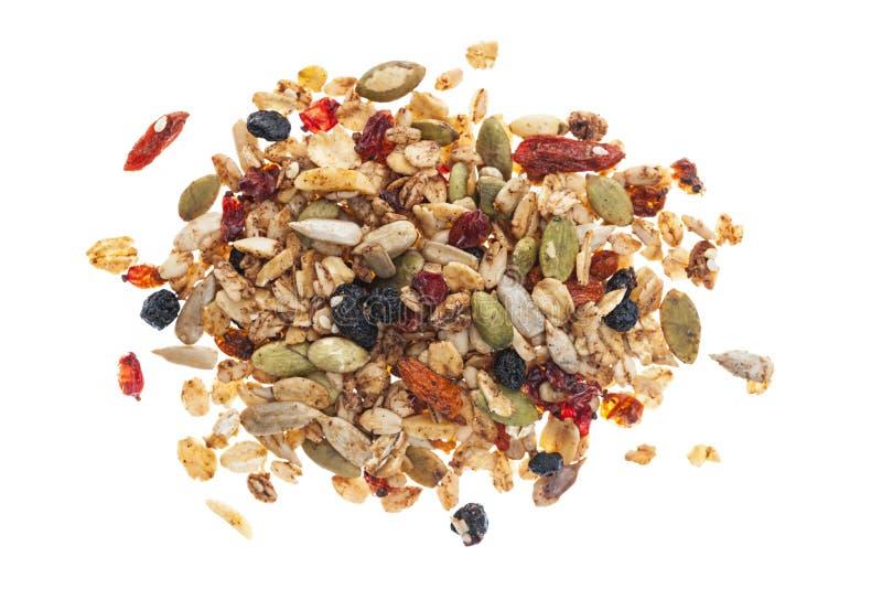 Stapel van eigengemaakte granola stock afbeelding