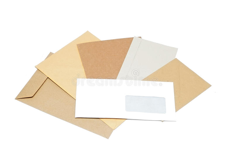 Stapel van enveloppen royalty-vrije stock foto