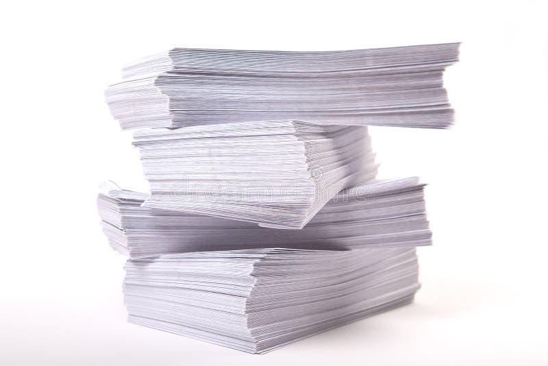 Stapel van enveloppen, bedrijfsachtergrond royalty-vrije stock foto's