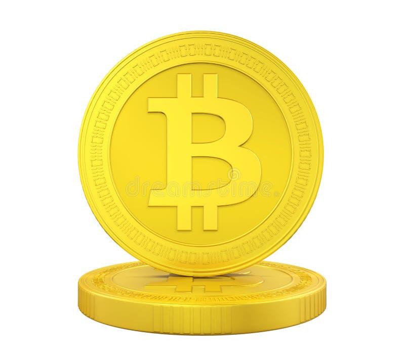 Stapel van Geïsoleerde Bitcoins royalty-vrije illustratie