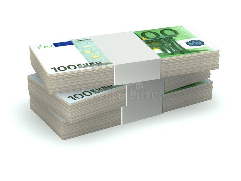 Stapel van geld royalty-vrije illustratie