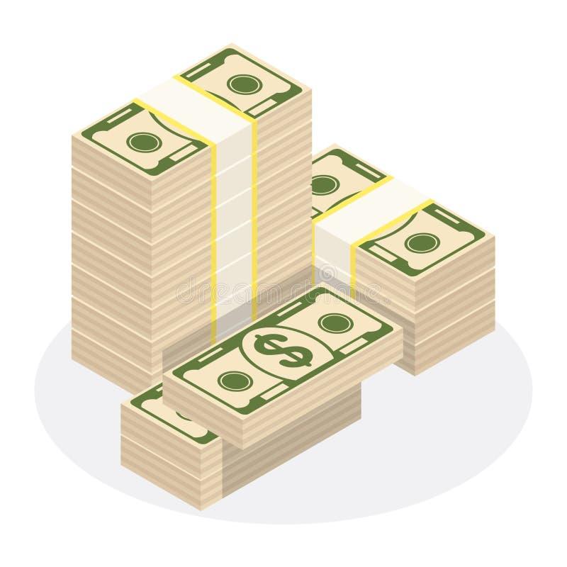 Stapel van geld stock illustratie