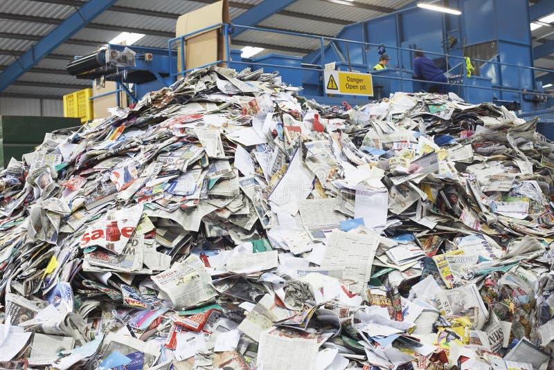Stapel van Gerecycleerde Documenten stock afbeeldingen
