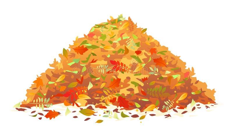 Stapel van gevallen bladeren royalty-vrije illustratie