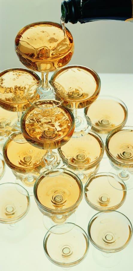 stapel van glas 2 royalty-vrije stock afbeelding