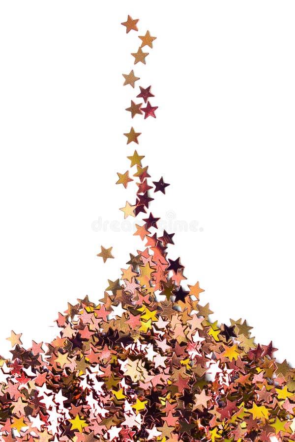 Stapel van gouden sterren stock afbeeldingen