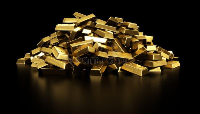 Stapel van goudstaven royalty-vrije illustratie