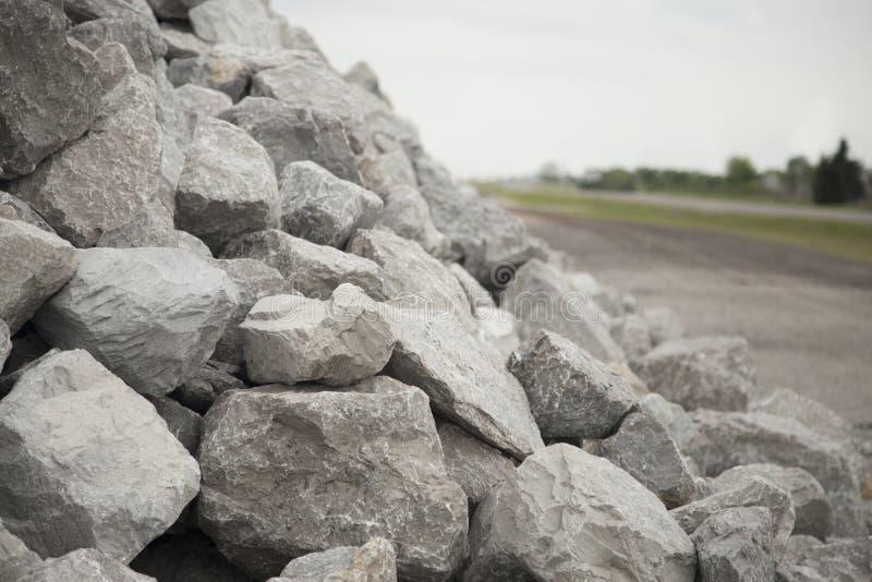 Stapel van Grey Bolder Rocks royalty-vrije stock fotografie