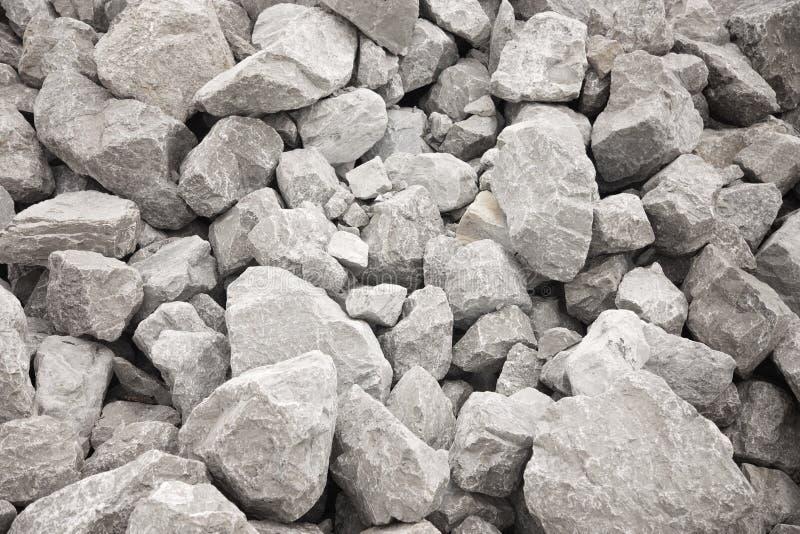 Stapel van Grey Bolder Rocks stock foto