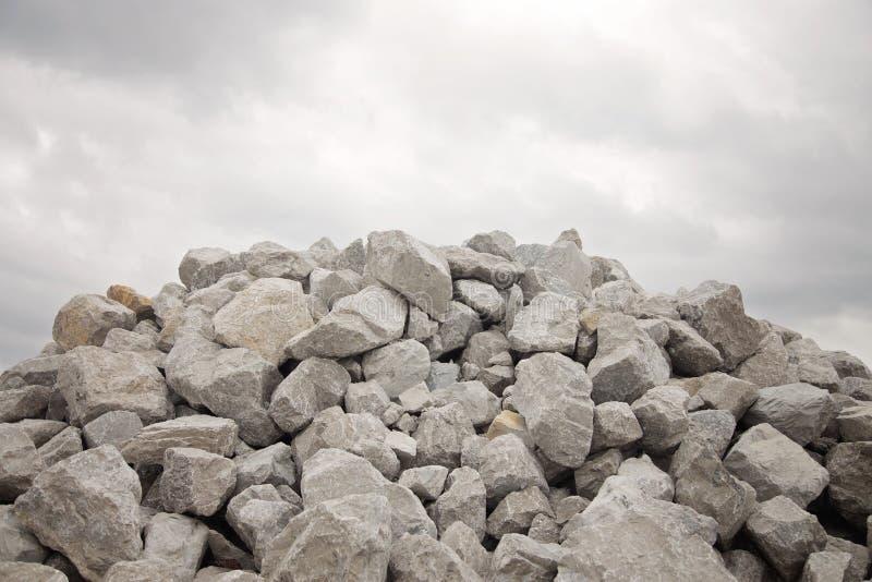 Stapel van Grey Bolder Rocks stock afbeelding