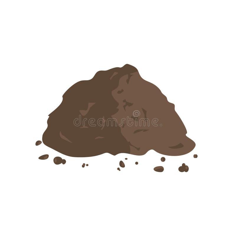 Stapel van Grond of Compost vector illustratie