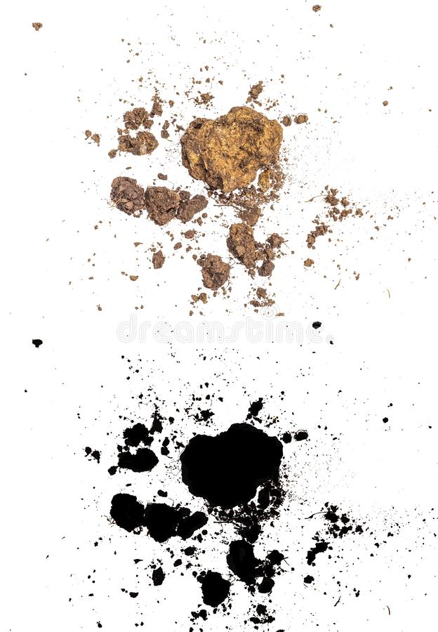 Stapel van grond en klei op witte achtergrond vector illustratie