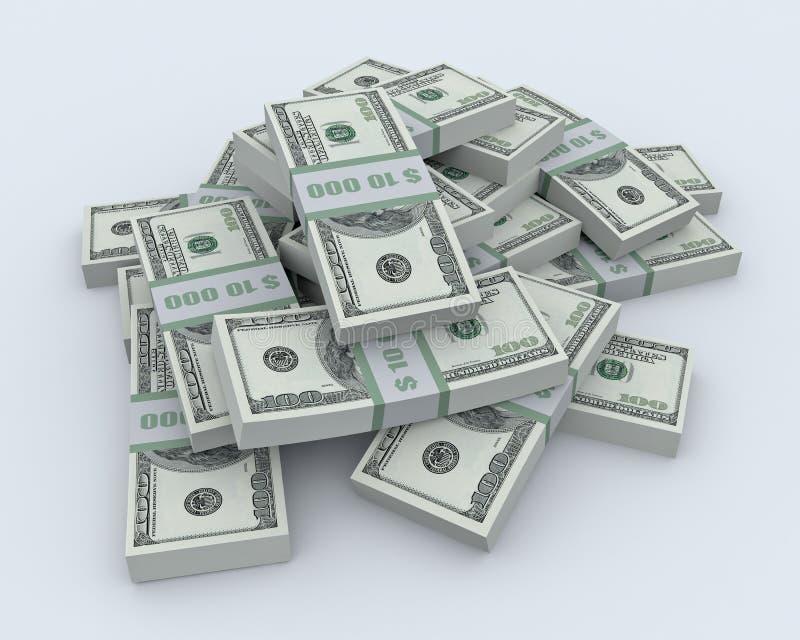 Stapel van het geld vector illustratie