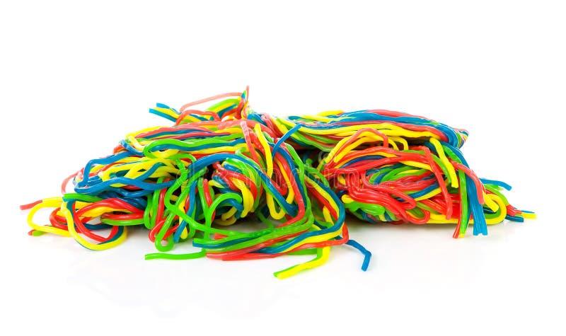 Stapel van het kleurrijke suikergoed van het fruitkant royalty-vrije stock fotografie