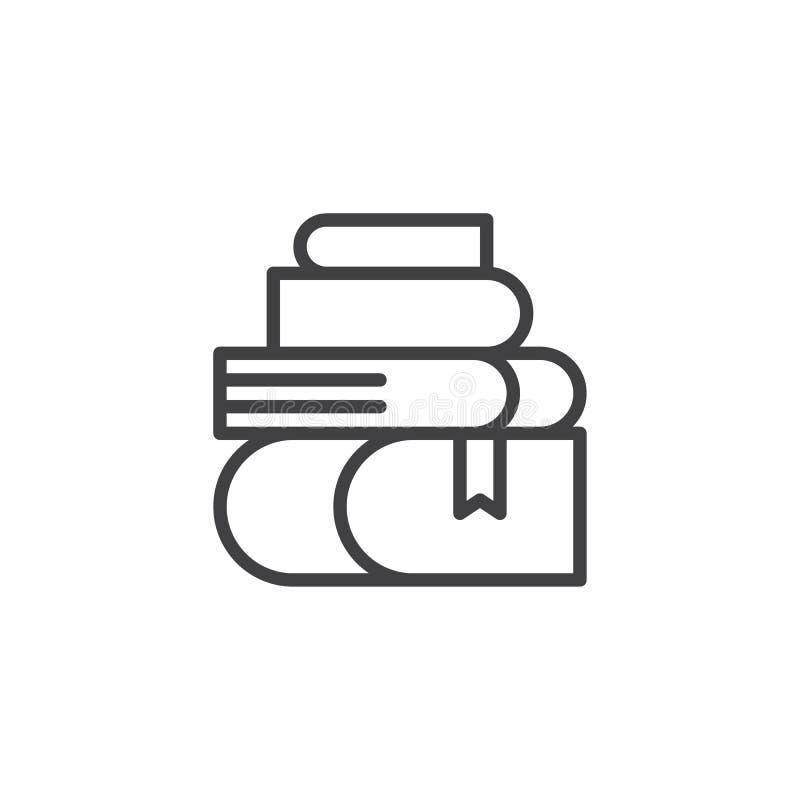 Stapel van het pictogram van het boekenoverzicht vector illustratie