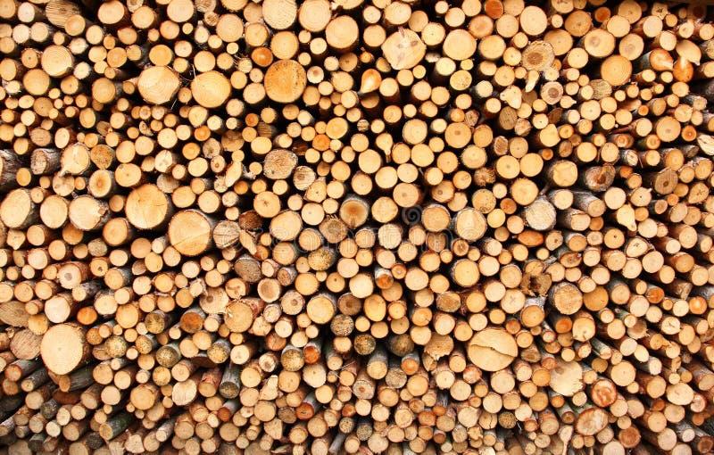 Stapel van hout royalty-vrije stock foto's