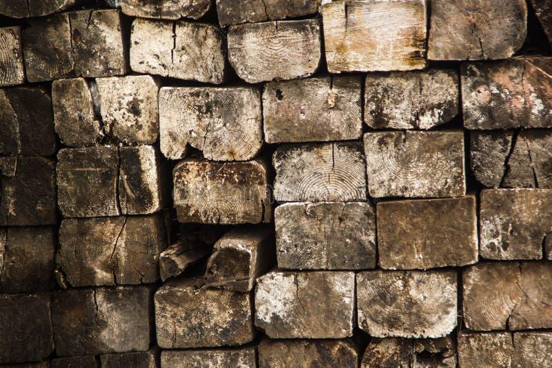 Stapel van hout stock fotografie