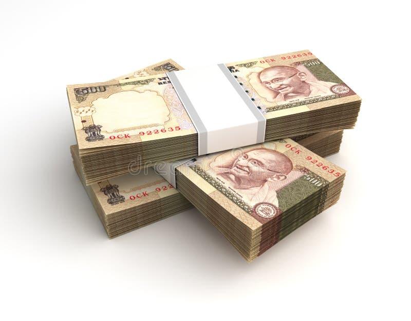 Stapel van Indische Roepie stock illustratie