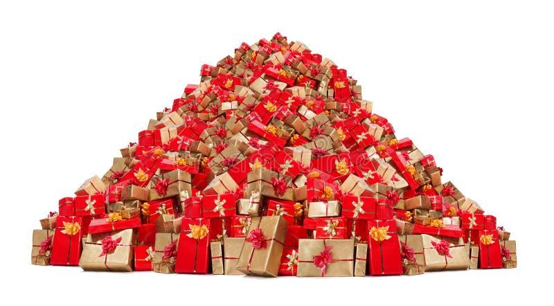 Stapel van Kerstmisgiften royalty-vrije stock afbeelding