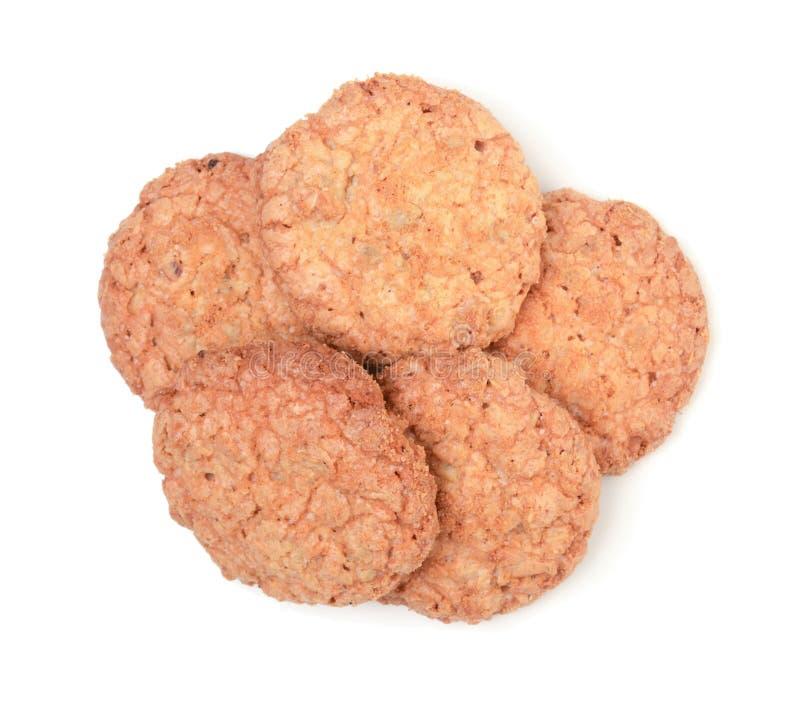 Stapel van koekjes op wit worden ge?soleerd dat royalty-vrije stock foto