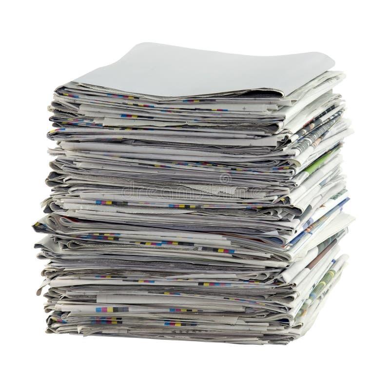 Stapel van kranten stock foto's