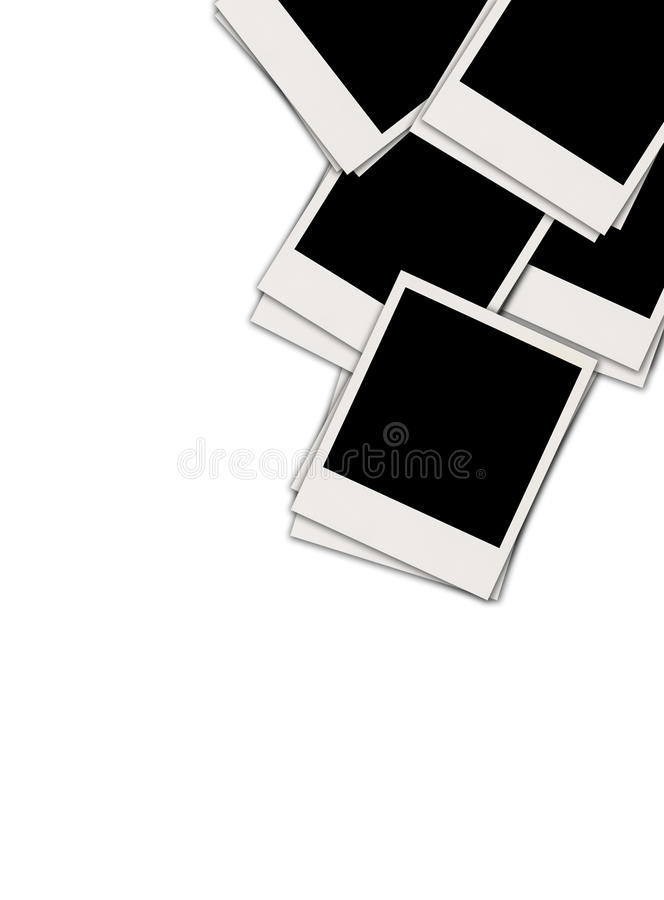 Stapel van Lege Foto's vector illustratie