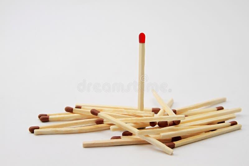 Stapel van matchsticks stock afbeelding