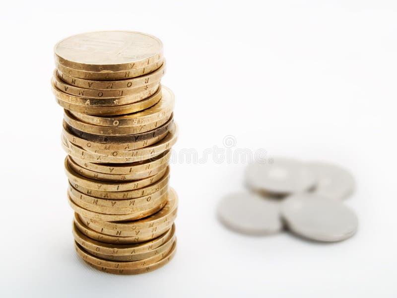 Stapel van muntstukken stock afbeelding