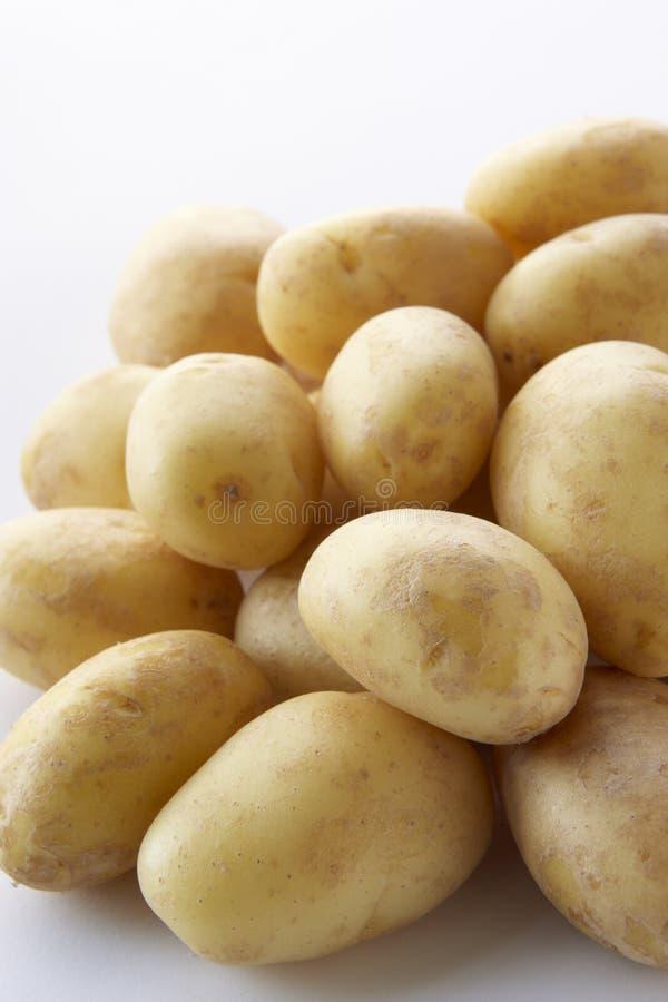 Stapel van Nieuwe Aardappels royalty-vrije stock afbeeldingen