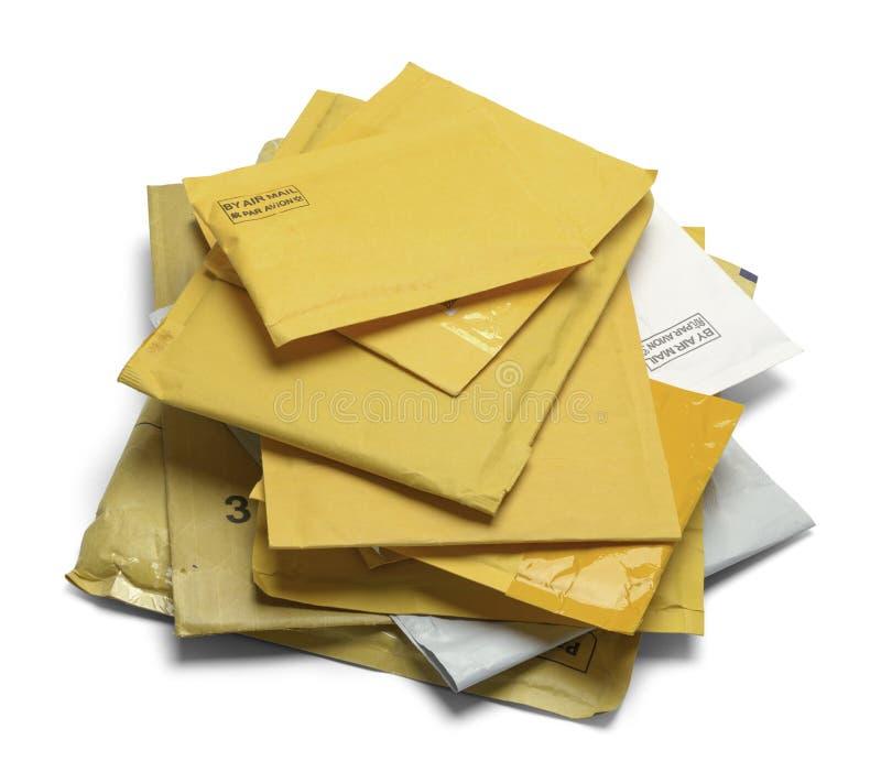 Stapel van Opgevulde Enveloppen stock foto