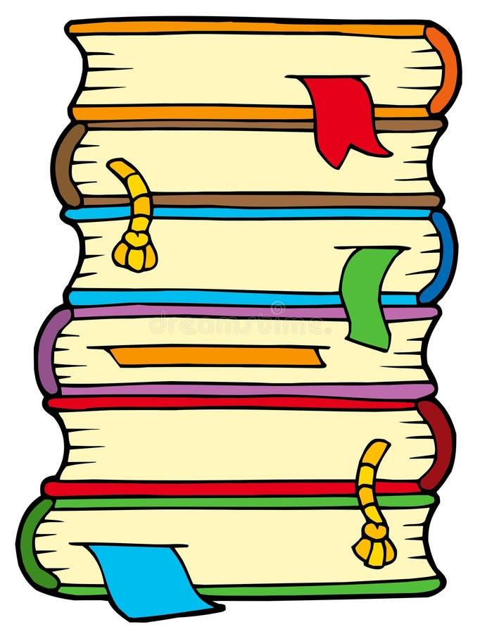 Stapel van oude boeken royalty-vrije illustratie