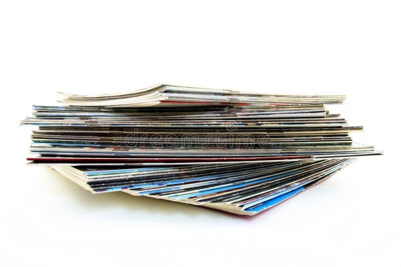 Stapel van oude tijdschriften royalty-vrije stock foto