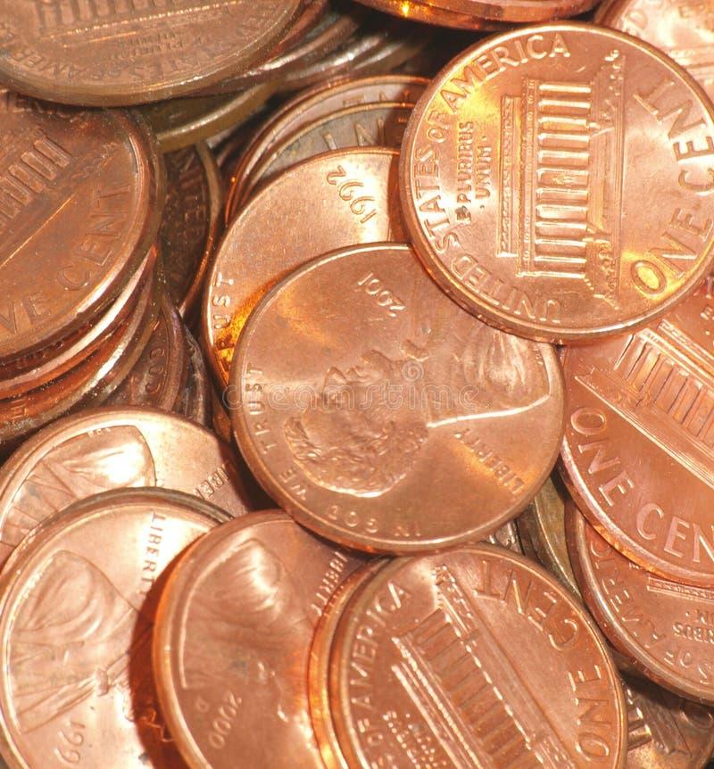 Stapel van pence stock afbeelding