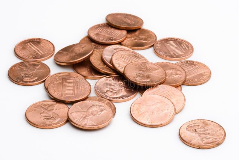 Stapel van pence stock afbeeldingen