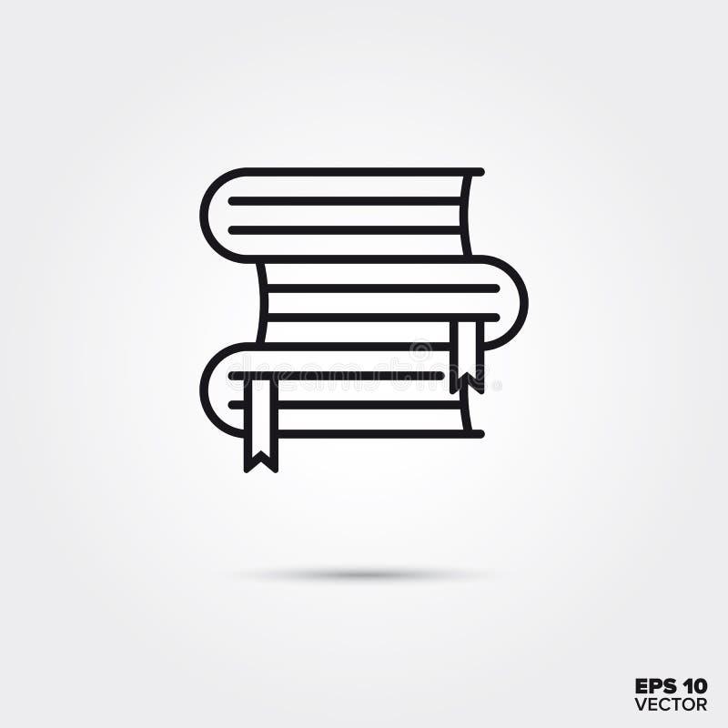 Stapel van pictogram van de boeken het vectorlijn royalty-vrije illustratie