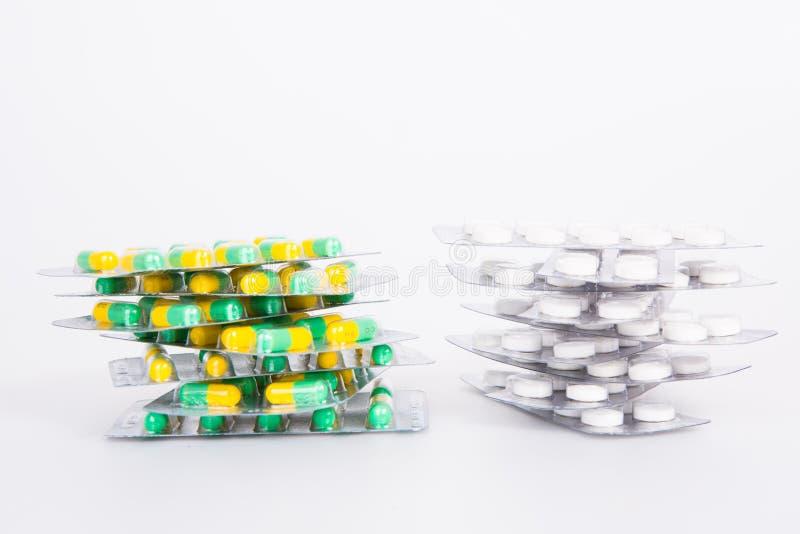 Stapel van pillen royalty-vrije stock afbeeldingen