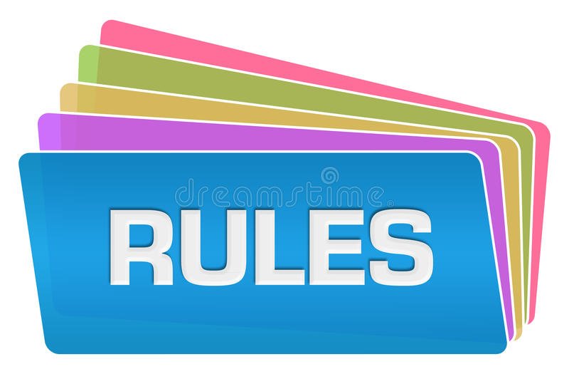 Stapel van regels de Kleurrijke Vierkanten royalty-vrije illustratie