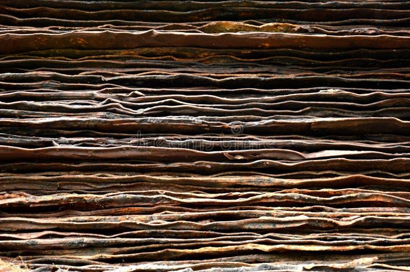 Stapel van roestige ijzerplaat royalty-vrije stock foto